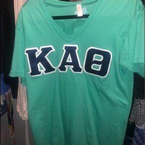 oversized kappa alpha theta letter shirt